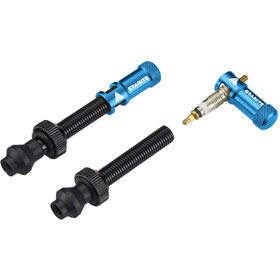 Granite Juicy Nipple Valves incl. Caps 2 Pieces, blue